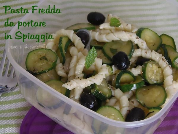 ricetta pasta fredda con zucchine e menta