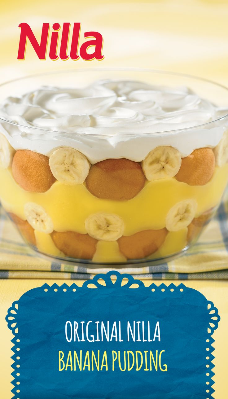 Some recipes are so classic, they're perfect for any occasion. This Original NILLA Banana Pudding, with its airy custard and delicioso banana goodness, will please your merienda guests – young and old alike.