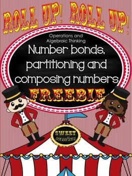 This is a fun introduction to Kindergarten Operations and Algebraic Thinking to introduce composing and decomposing numbers, as well as a helpful review for First Graders working with associative properties of number and missing addends.Use as a whole class, in groups or for RTI Tier II intervention.Students need to have a firm foundation of number bonds and building and breaking numbers before they can attempt missing addends, so to begin with demonstrate using the number bonds work mats to…