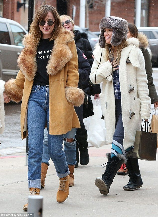 A lesson in layering: Dakota Johnson and Kate Hudson nailed winter style as they stepped out shopping in Aspen, Colorado, on Tuesday