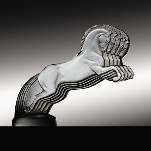 Lalique hood ornament. This one is the most expensive Lalique bringing over 300,000 dollars at auction.