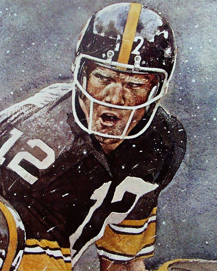 Terry Bradshaw, Pittsburgh Steelers by Merv Corning https://www.fanprint.com/licenses/pittsburgh-steelers?ref=5750