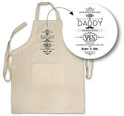 Daddy Says Yes Apron