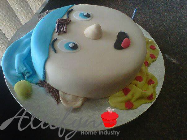 Noddy themed single tier birthday cake made by Altefyn cakes