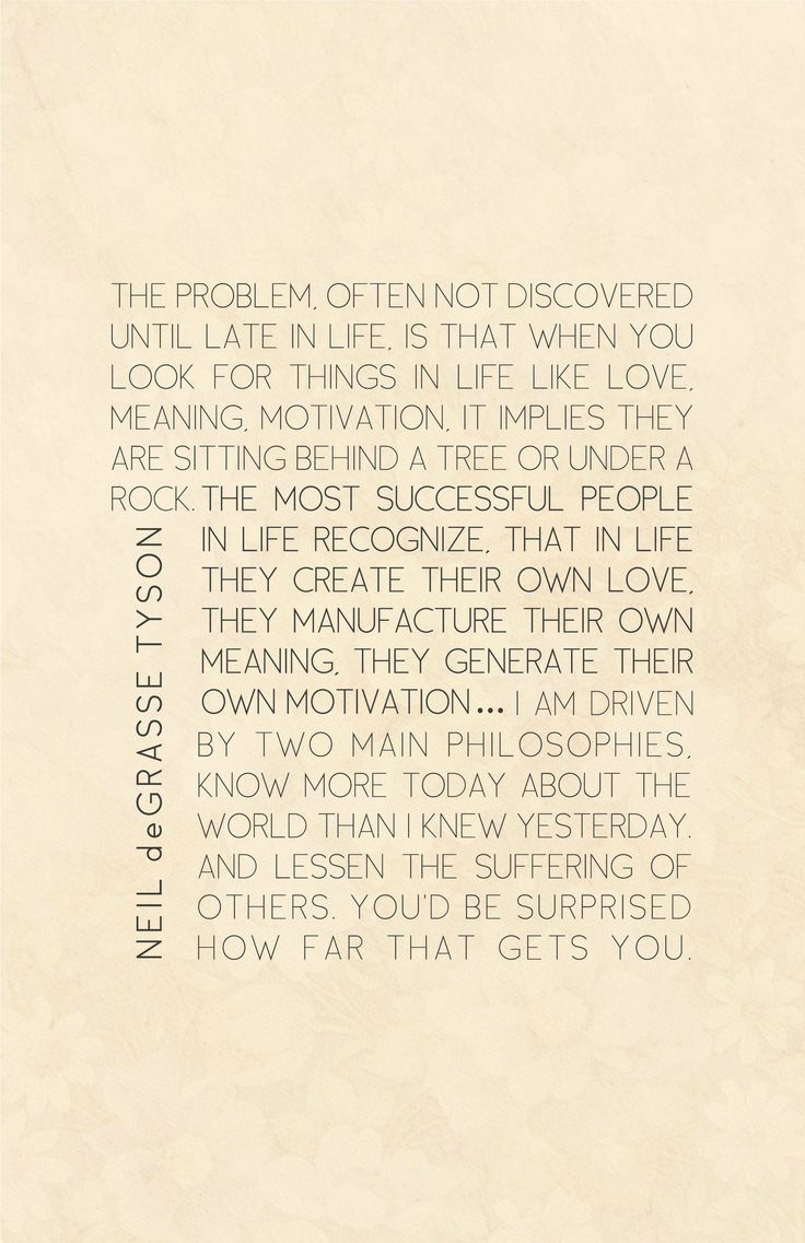 some profound words by Neil deGrasse Tyson