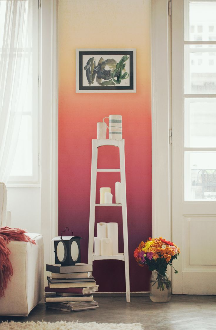 Ombre Sunset Wall Mural