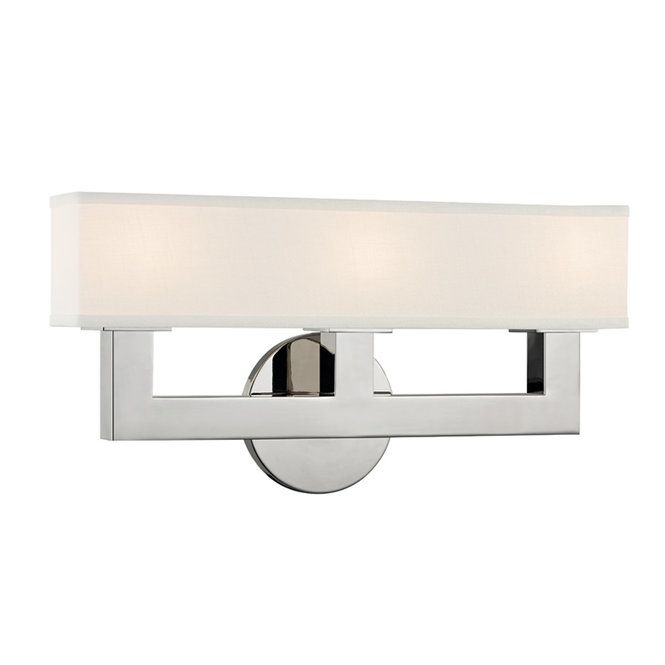 Linen Box Shade Sconce 3 Light Wall Sconce Lighting Hudson