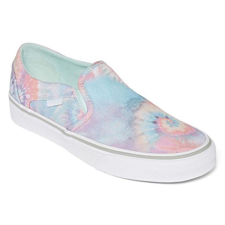 Vans Asher Slip-On Womens Skate Shoes   Chaussures à roulettes ...