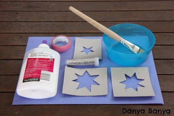Supplies to make an Australian flag