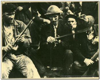 Battle of Blair Mountain, 1921 -- During a five day stand off in West Virginia, coal miners asserted their right to unionize.  Standing against their bosses, the police and federal troops, the workers staged the largest armed rebellion since the Civil War.  The miners were overcome by the Army and failed to unionize.  Workers in the US would not secure the rights the coal miners sought until the 1930s.