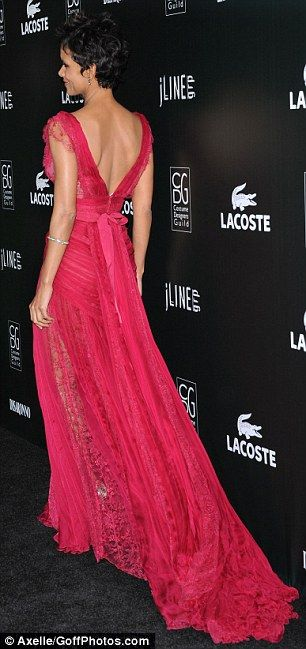 halle berry dress | Halle Berry looks stunning in see-through dress at Costume Gala | Mail ...
