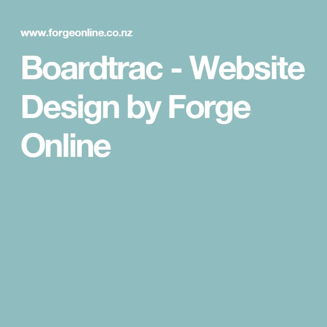 Boardtrac - Website Design by Forge Online