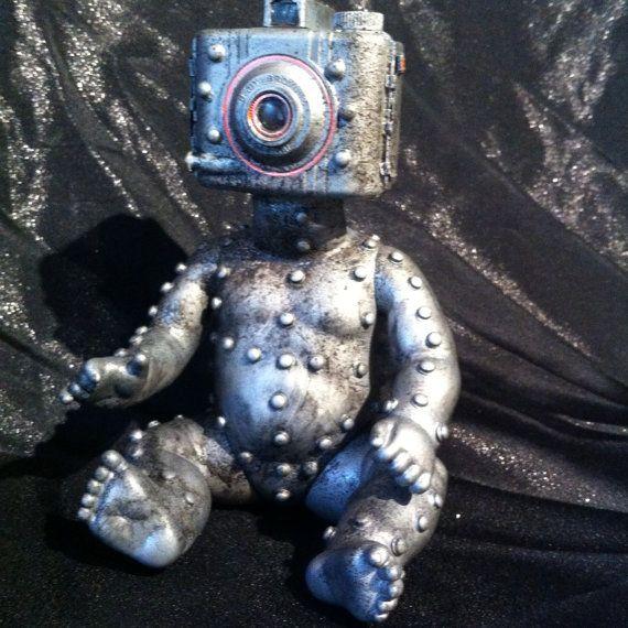 Baby Cam-Droid 2.0 Baby bot  Vintage Camera robot Kodak by kyoob