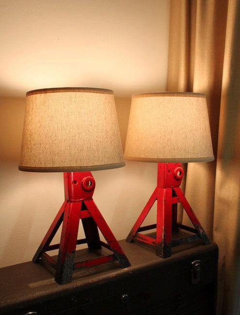 Jack stand lamps  pair by OstinatiStudio on Etsy, $165.00