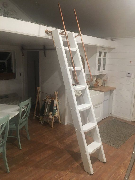 Library Loft Ladders Stands Up Custom Made To Fit Etsy Loft Ladder Loft Stairs Stairs Design