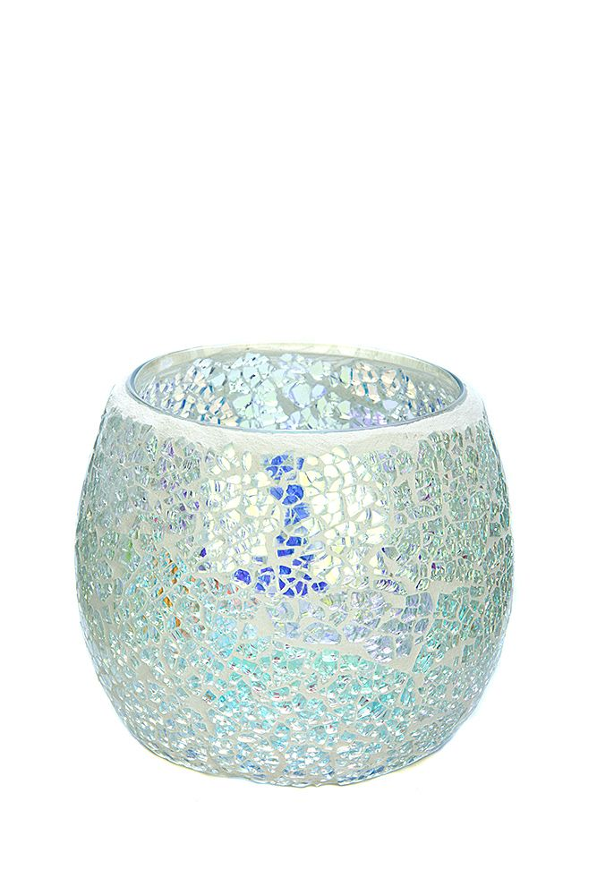 The pretty, sparkly Silver Blue Shimmer mosaic in medium. To see our entire range of mosaics, please click here: http://bit.ly/1zHtguh