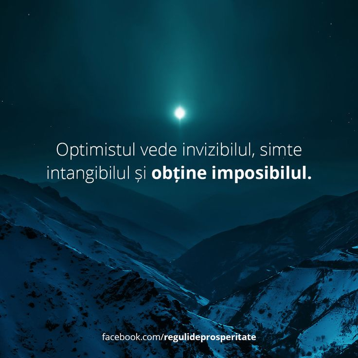 Tu ești un optimist?