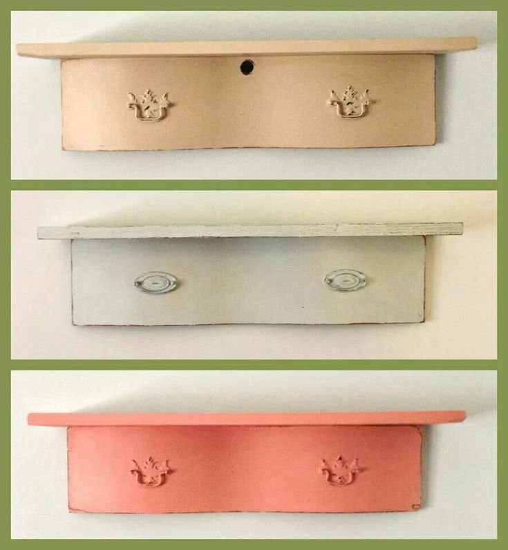 Shelves made from old drawer fronts