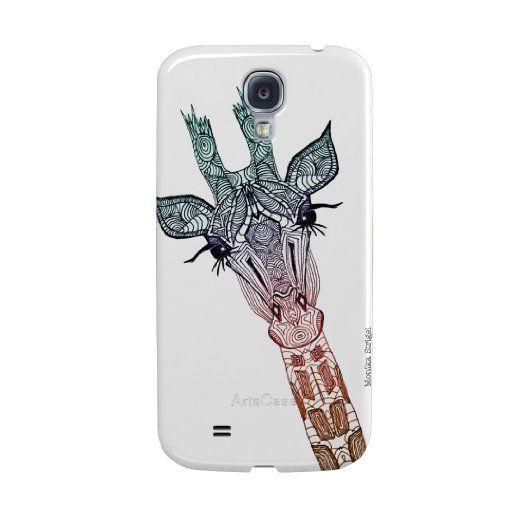 Amazon.com: ArtsCase Giraffe Teal by Monika Strigel for Samsung Galaxy S 4 mini: Cell Phones & Accessories #galaxy #s4 #mini