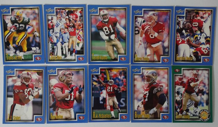 1999 Score Series 1 San Francisco 49ers Team Set of 10 Football Cards #SanFrancisco49ers