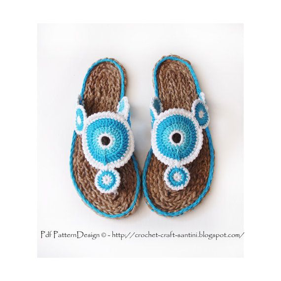 YoYo Sandals 2in1 Crochet Pattern and Tailored Cord-Sole by PdfPatternDesign, €8.00