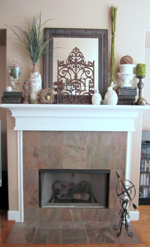 Decorating Ideas > 1000+ Ideas About Mantel Decor Everyday On Pinterest  ~ 185042_Fireplace Mantel Decorating Ideas For Everyday