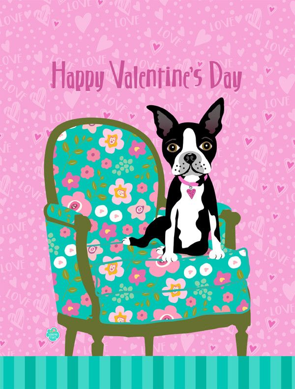 Happy Valentineu0027s Day Boston Terrier Ultra Beverage Insulators For Slim Cans