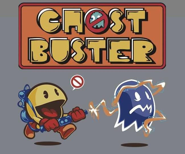 Everyday I'm [Ghost] Busterin' - Love this #pacman and #ghostbusters mash-up!