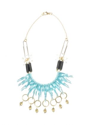 Young British Designers: Ice Blue/Black/Silver Pendant -Kirsty Ward
