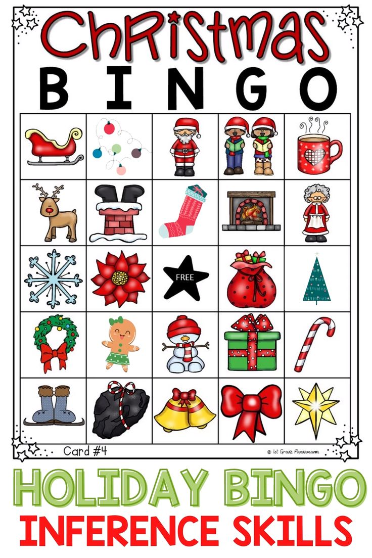 30 Printable Holiday Bingo Cards Template 1st, 2nd and