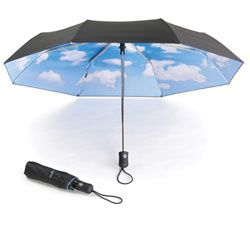 nothing but blue skiesMoma Sky, Ideas, Blue Sky, Sky Umbrellas, Tibor Kalman, Things, Products, Rainy Days, Black Nylons