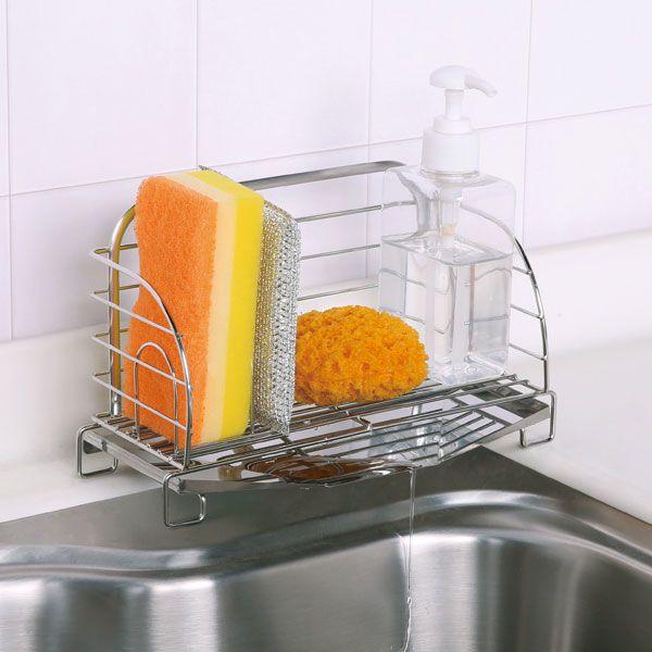 水が流れる洗剤スポンジラック(スポンジラック)