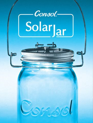 This Consol jar has a solar powered panel in the lid that causes a light to come on at night. Only R150. www.solarjar.co.za