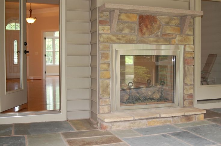 two sided place indoor outdoor fireplaces