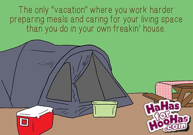 Camping via @hahaforhoohas