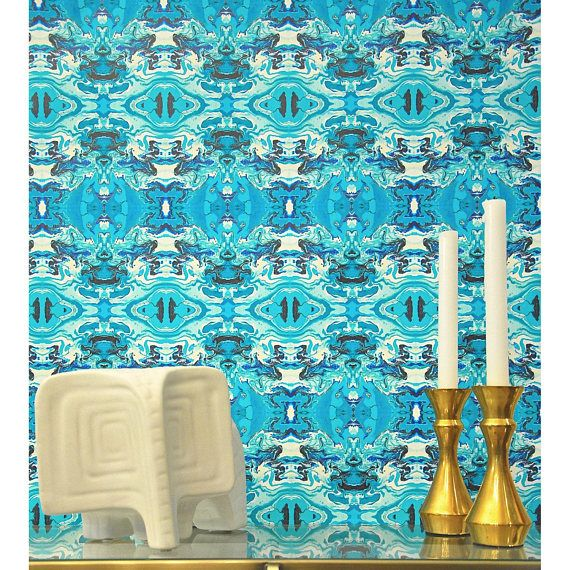 Modern Chinoiserie Blue Peel Stick Removable Wallpaper Toile Wallpaper Wallpaper Shop Wallpaper