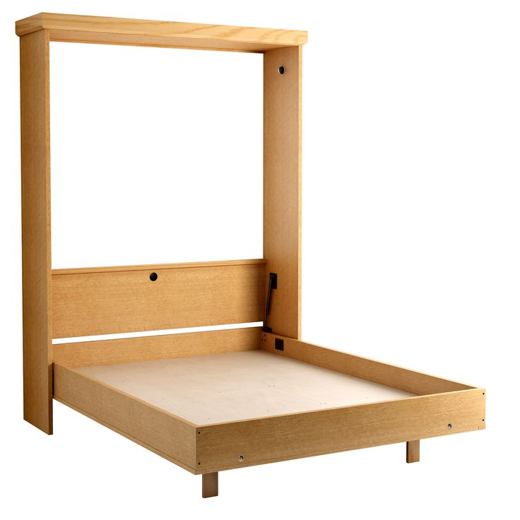 Revera Murphy Bed in Oak - Honey Finish.  Shown with Bed Open