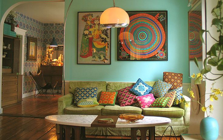 Bohemian living room google search ideas for - Deco salon vintage ...