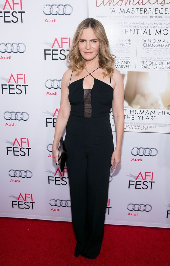 Roland Mouret Spring Summer 2016 Malvern Jumpsuit in black as worn by Jennifer Jason Leigh to the premiere of 'Anomalisa' at the AFI Fest 2015 in Los Angeles #rolandmouret https://www.rolandmouret.com/: