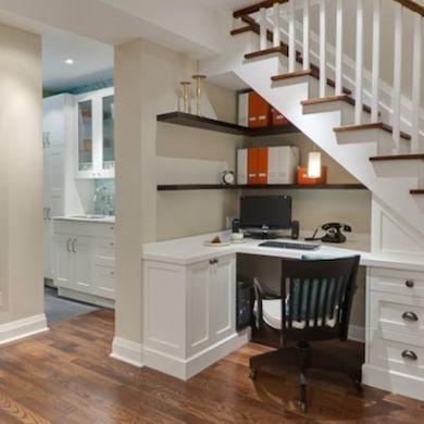 Home Office - Finished Basement Ideas - 10 Total Makeovers - Bob Vila