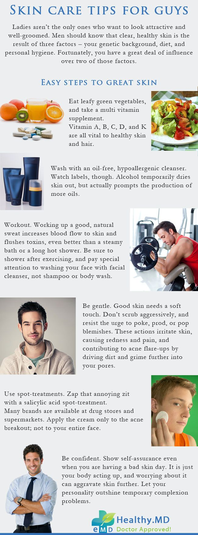 Skin Care Tips For Guys