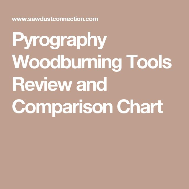 Pyrography Woodburning Tools Review and Comparison Chart