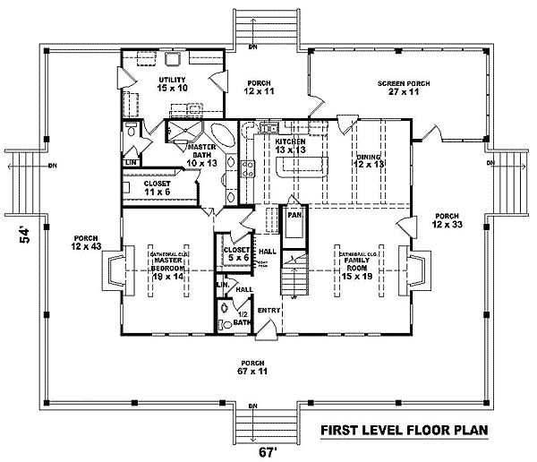 plan 58304sv complete wrap around porch house plans