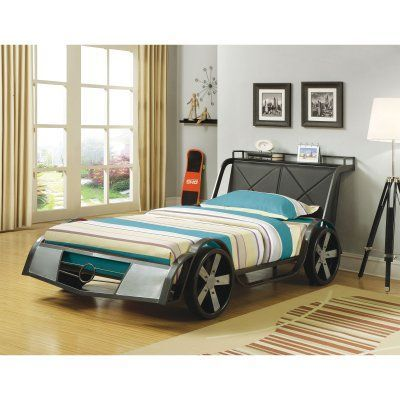 Coaster Furniture Novelty Beds Twin Rogan Youth Race Car Bed - 400701