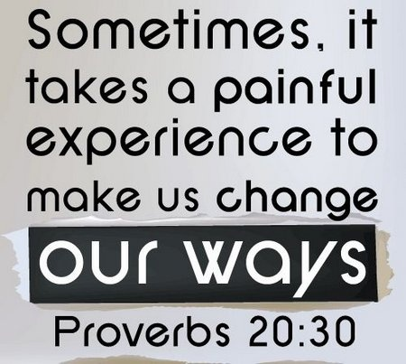 Sometimes, it takes a painful experience to make us change our ways.