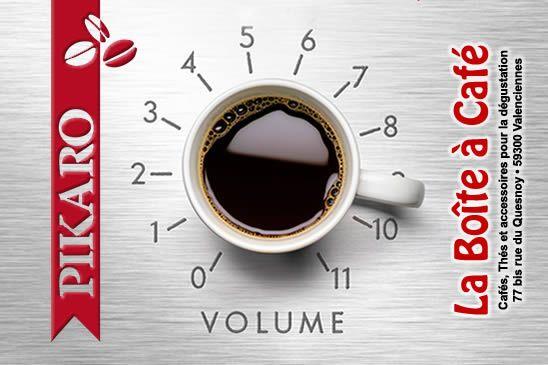#Café plaisir : montez le volume au maximum. Rien de tel qu'un bon café Pikaro. Torréfaction artisannale à #Valenciennes. www.pikaro.fr