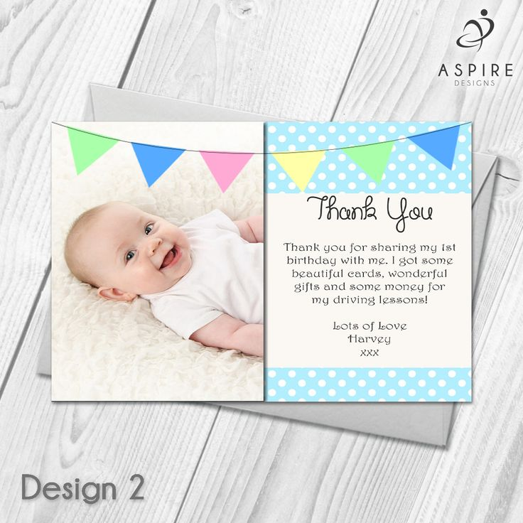 Best 25 Personalised thank you cards ideas – Personalised 1st Birthday Thank You Cards