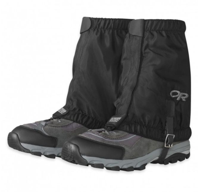 Outdoor Research hiking gaiters. Keep the wet out.