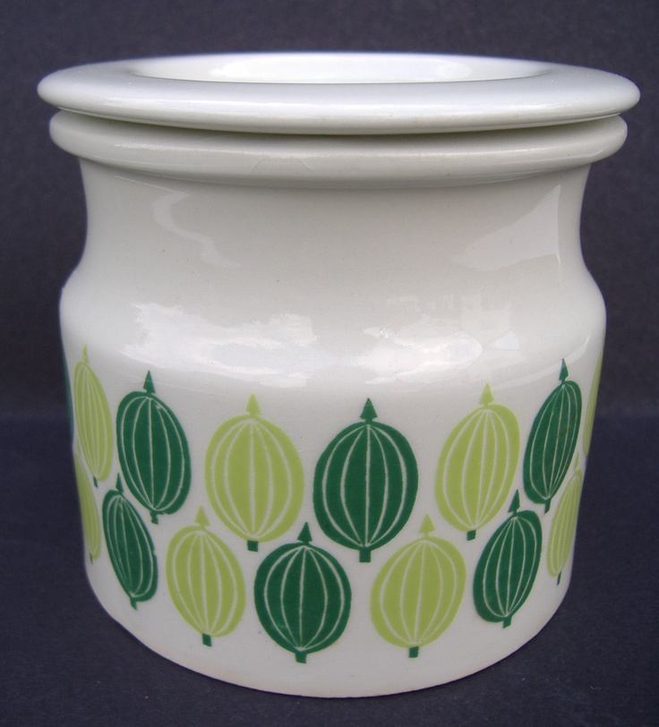 Arabia Finland gooseberry pot