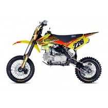STOMP Z2 R-140 PIT BIKE The 2015 Z2R-140 has a completely BRAND-NEW chassis moving from a single spine to a twin beam construction. This allows for increased rigidity and thus stability ay high speed, but more importantly allows space for the extra-long rear shock & the subsequent huge swing arm travel.